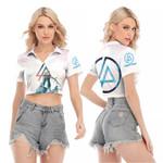 Linkin Park Angels Rock band Logo White 3D Designed Allover Gift For Linkin Park Fans V-neck Lapel Blouse