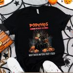 Jack Skellington Popeyes Louisiana Kitchen Nightmare Before Coffee Spooky Halloween Gift For Jack Skellington Fans Tshirt