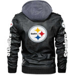 Stocktee Pittsburgh Steelers Classic But Amazing Men's and Women's Premium Quality Leather Jacket Size S-3XL GTS000027