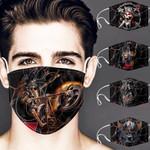 Topsportee NCAA CINCINNATI BEARCATS Facemask 5PCS Set PM2.5 Activated Carbon Filter