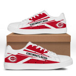 MLB Cincinnati Reds Limited Edition Men's and Women's Skate Shoes NEW002739