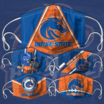 Topsportee NCAA BOISE STATE BRONCOS Facemask 5PCS Set PM2.5 Activated Carbon Filter