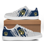 MLB Milwaukee Brewers Limited Edition Men's and Women's Skate Shoes NEW002348