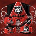 Topsportee NCAA GEORGIA BULLDOGS Facemask 5PCS Set PM2.5 Activated Carbon Filter