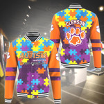 Topsportee NCAA CLEMSON TIGERS Limited Edition Amazing Men's and Women's Varsity Jacket Autism Full Sizes
