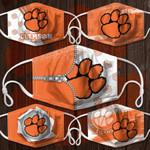 Topsportee NCAA CLEMSON TIGERS Facemask 5PCS Set PM2.5 Activated Carbon Filter