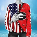 Topsportee NCAA GEORGIA BULLDOGS Limited Edition Amazing Men's and Women's Hoodie Zip up Hoodie Sweatshirt Full Sizes