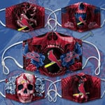 Topsportee MLB St.Louis Cardinals Limited Edition Amazing 5PCS Set PM2.5 Activated Carbon Filter Face Masks