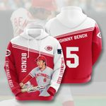 Topsportee MLB Cincinnati Reds JOHNNY BENCH 5 Limited Edition Amazing Men's and Women's Hoodie Full Sizes TOP000410
