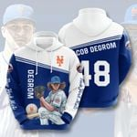 Topsportee MLB New York Mets Jacob deGrom 48 Limited Edition Amazing Men's and Women's Hoodie Full Sizes GTS001270