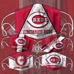 Topsportee MLB Cincinnati Reds Limited Edition Amazing 5PCS Set PM2.5 Activated Carbon Filter Face Masks