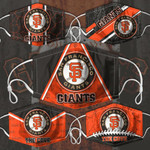 Topsportee MLB San Francisco Giants Limited Edition Amazing 5PCS Set PM2.5 Activated Carbon Filter Face Masks