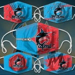 Topsportee MLB Miami Marlins Limited Edition Amazing 5PCS Set PM2.5 Activated Carbon Filter Face Masks