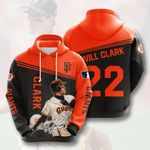 Topsportee MLB San Francisco Giants WILL CLARK 22 Limited Edition Amazing Men's and Women's Hoodie Full Sizes GTS001037