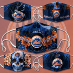 Topsportee MLB New York Mets Limited Edition Amazing 5PCS Set PM2.5 Activated Carbon Filter Face Masks TOP000165