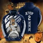 Topsportee MLB New York Yankees DEREK JETER 2 Limited Edition Amazing Men's and Women's Hoodie Full Sizes GTS001095