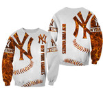 Topsportee MLB New York Yankees Limited Edition Amazing Men's and Women's Orange Hoodie T-shirt Sweatshirt Full Sizes GTS001116