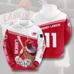 Topsportee MLB Cincinnati Reds BARRY LARKIN 11 Limited Edition Amazing Men's and Women's Hoodie Full Sizes
