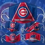 Topsportee MLB Chicago Cubs Limited Edition Amazing 5PCS Set PM2.5 Activated Carbon Filter Face Masks