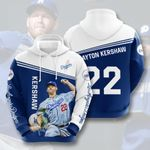 Topsportee MLB Los Angeles Dodgers Clayton Kershaw 22 Limited Edition Amazing Men's and Women's Hoodie Full Sizes TOP000252
