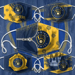 Topsportee MLB Milwaukee Brewers Limited Edition Amazing 5PCS Set PM2.5 Activated Carbon Filter Face Masks TOP000099