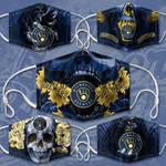 Topsportee MLB Milwaukee Brewers Limited Edition Amazing 5PCS Set PM2.5 Activated Carbon Filter Face Masks