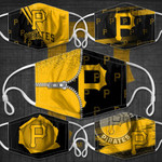 Topsportee MLB Pittsburgh Pirates Limited Edition Amazing 5PCS Set PM2.5 Activated Carbon Filter Face Masks TOP000085