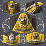 Topsportee MLB San Diego Padres Limited Edition Amazing 5PCS Set PM2.5 Activated Carbon Filter Face Masks TOP000404