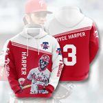 Topsportee MLB Philadelphia Phillies Bryce Harper 3 Limited Edition Amazing Men's and Women's Hoodie Full Sizes