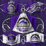 Topsportee MLB Colorado Rockies Limited Edition Amazing 5PCS Set PM2.5 Activated Carbon Filter Face Masks