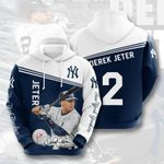 Topsportee MLB New York Yankees DEREK JETER 2 Limited Edition Amazing Men's and Women's Hoodie Full Sizes GTS001016