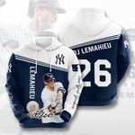 Topsportee MLB New York Yankees DJ LEMAHIEU 26 Limited Edition Amazing Men's and Women's Hoodie Full Sizes