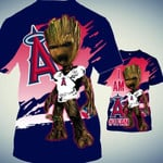 Stocktee Los Angeles Angels Limited Edition Over Print Full 3D Zip Hoodie S - 5XL