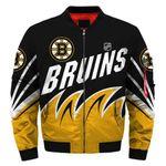 Topsportee Boston Bruins Winter Bomber Jacket 3D Full Print