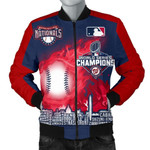 Topsportee Washington Nationals Limited Edition Over Print Full 3D Bomber Jacket S - 5XL