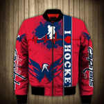 Topsportee Washington Capitals Winter Bomber Jacket 3D Full Print