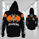 Stocktee Miami Marlins Limited Edition Over Print Full 3D Zip Hoodie S - 5XL