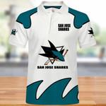 Topsportee San Jose Sharks Polo Shirt All Over Print S - 5XL