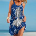 Topsportee New York Mets Medusa Limited Edition Summer Beach Dress NLA001850