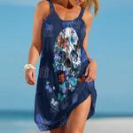 Topsportee New York Yankees Butterflies And Skull Limited Edition Summer Beach Dress NLA002051