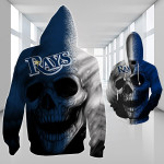 Topsportee Tampa Bay Rays Limited Edition Over Print Full 3D Zip Hoodie S - 5XL