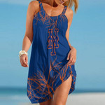 Topsportee New York Mets Tree Pattern Limited Edition Summer Beach Dress NLA002450