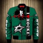 Topsportee Dallas Stars Winter Bomber Jacket 3D Full Print