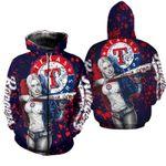 Topsportee Texas Rangers Limited Edition Over Print Full 3D T-shirt Zip Hoodie S - 5XL TOP000622