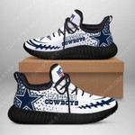 Stocktee Dallas Cowboys Limited Edition Men's and Women's Black Sole Reze Shoes All US Size TH1470-SK