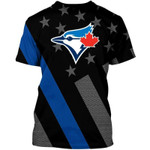 Topsportee Toronto Blue Jays Limited Edition Over Print Full 3D Hoodie T-shirt S - 5XL TOP000564