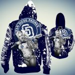 Topsportee San Diego Padres Limited Edition Over Print Full 3D T-shirt Zip Hoodie S - 5XL TOP000461
