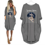 Topsportee New York Yankees Haters Shut Up Loose Casual Batwing Dress 6 Colors Size S-5XL PTL000151
