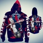 Stocktee Los Angeles Angels Limited Edition Over Print Full 3D T-shirt Zip Hoodie S - 5XL