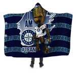 Topsportee Seattle Mariners Limited Edition Over Print Full 3D Hooded Blanket